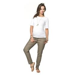 Těhotenské kalhoty Lanti olivové