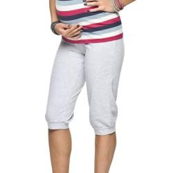 Těhotenské capri Fitness CROP šedé