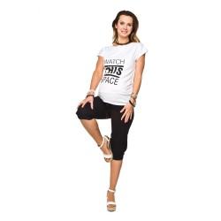 Těhotenské capri Fitness CROP černé