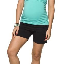 Těhotenské fitness šortky černá