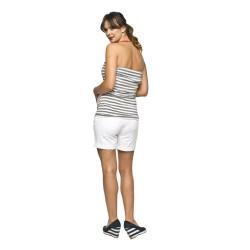 Těhotenské kraťasy Shorts bílé