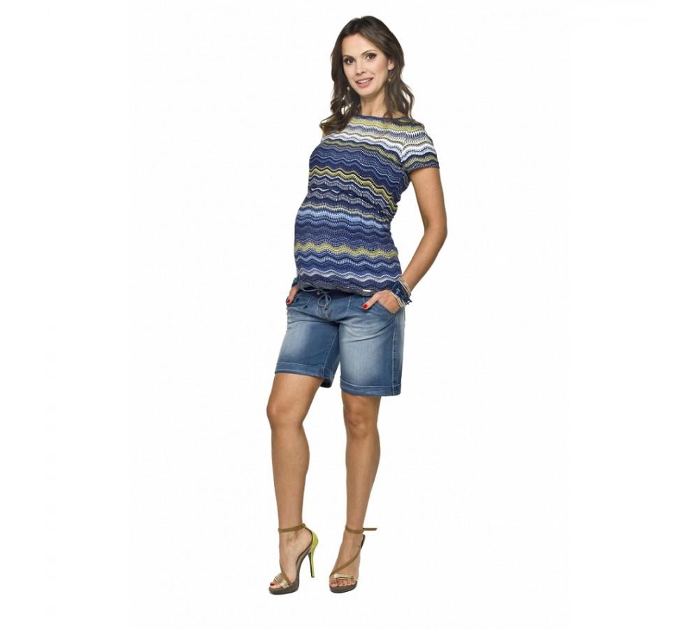Riflové těhotenské kraťasy Torre