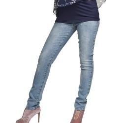 Těhotenské rifle Renar světle modrá jeans