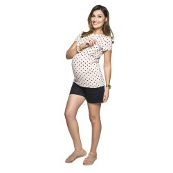Těhotenské kraťasy Szorty černé