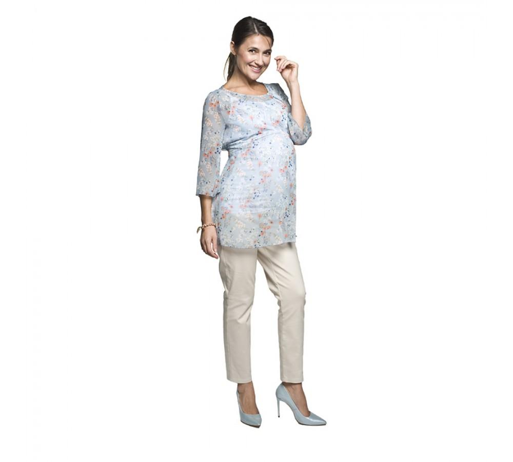 Těhotenské kalhoty Corte cappučíno