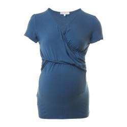 Těhotenská a kojící halenka Lea indigo