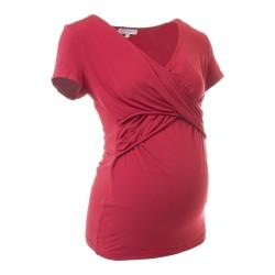 Těhotenská a kojící halenka Lea bordó