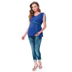 Těhotenská halenka Gigi kobaltová