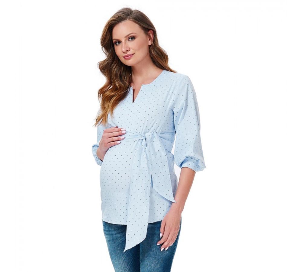 Těhotenská košile Stina s puntíkem