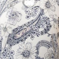 Těhotenské šaty AGATA krémová/šedá