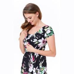 Těhotenské a kojící šaty HollyNew II květy
