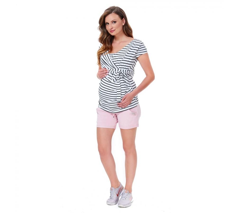 Těhotenské kraťasy Becky růžové