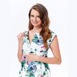 Těhotenské a kojící šaty Mojry s květy