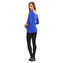 Těhotenská halenka s 3/4 rukávem Soft modrá