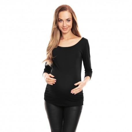 Těhotenská halenka s 3/4 rukávem Soft černá