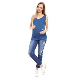 Těhotenské tílko Jana modré
