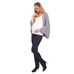 Těhotenský úpletový přehoz Kardi šedý