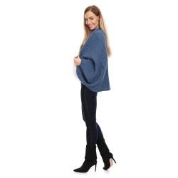 Těhotenský úpletový přehoz Kardi modrá