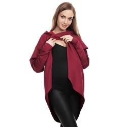 Moderní těhotenská tunika Origi bordó