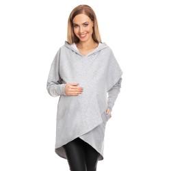 Moderní těhotenská tunika Origi šedá