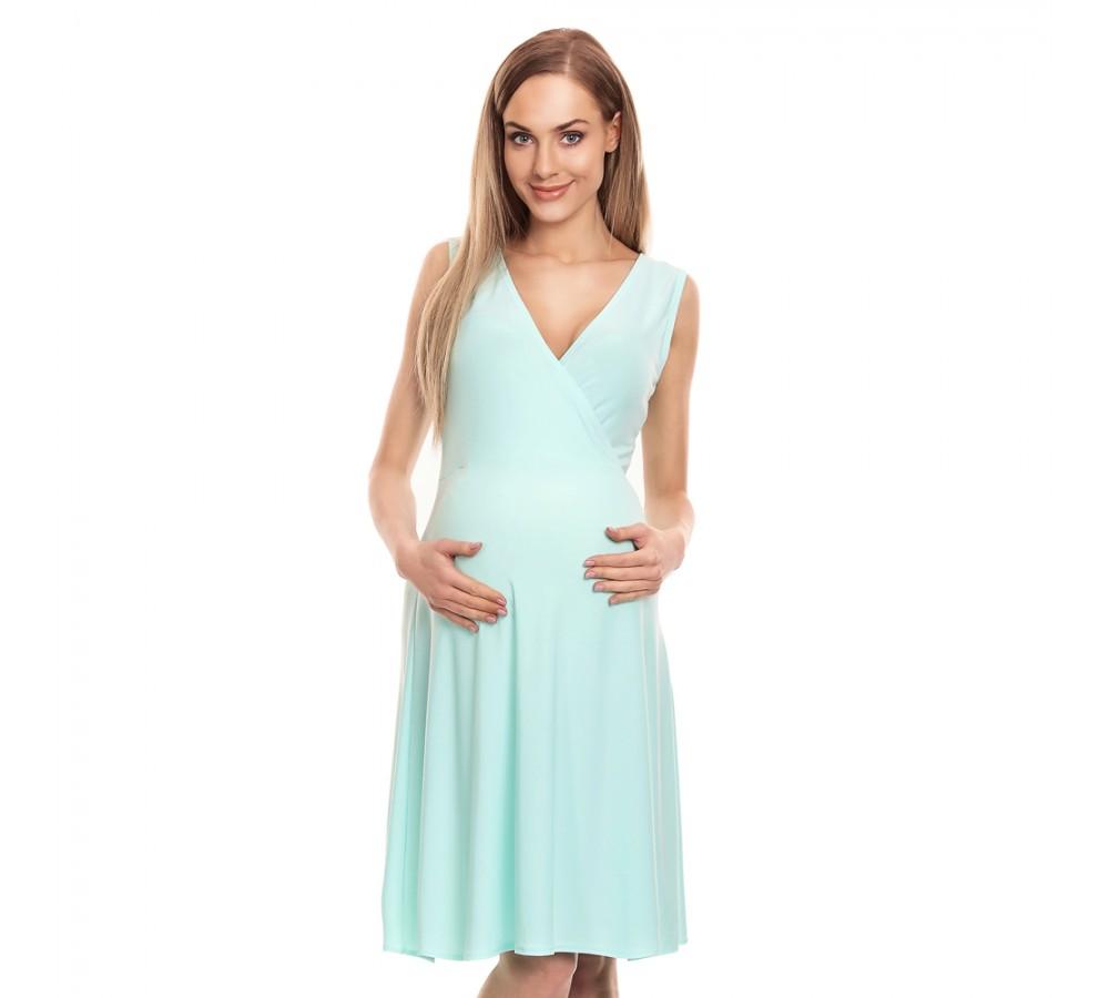 Letní těhotenské šaty Lili mátová