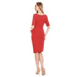 Těhotenské pouzdrové šaty Miriam červená