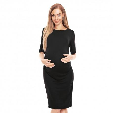 Těhotenské pouzdrové šaty Miriam černá