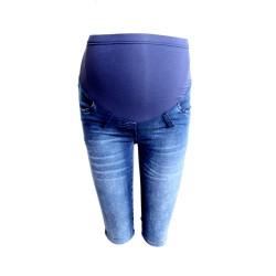 Těhotenské džínové kraťasy Mores se zvýšeným pasem
