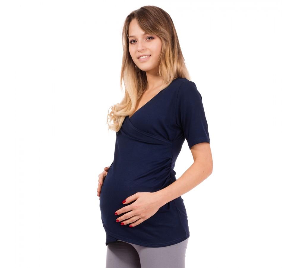 Těhotenská a kojící halenka DARIA tmavě modrá