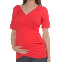 Těhotenská a kojící halenka DARIA červená