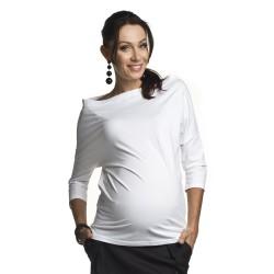 Těhotenská halenka Avi bílá