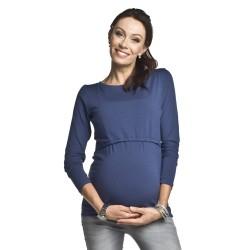 Těhotenská a kojící halenka Comfy tmavě modrá