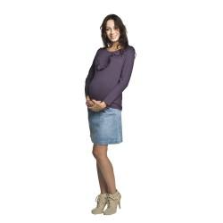 Těhotenská a kojící halenka Esme fialová