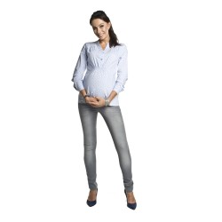 Těhotenská a kojící košile Melba pomněnková