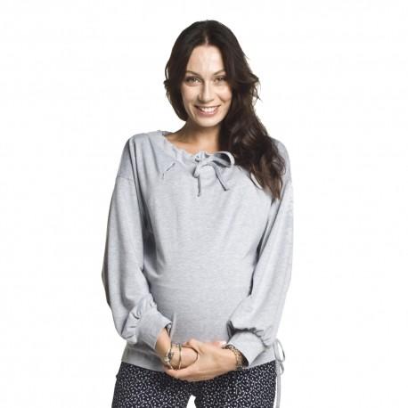 Těhotenská a kojící mikina Kimi šedá