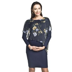 Společenské těhotenské šaty Amira tmavě modrá