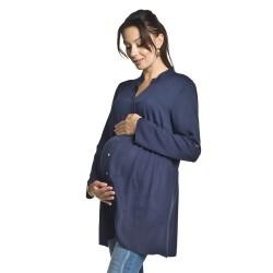 Těhotenská a kojící tunika Tonea tmavě modrá
