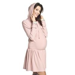 Těhotenské a kojící mikinošaty Candy růžová