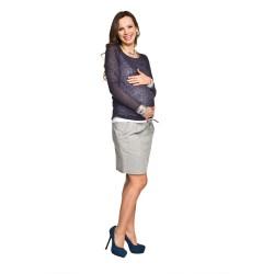 Těhotenský dvouvrstvý svetřík Solange modrobílá