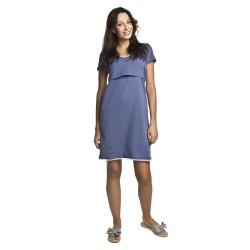 Těhotenská a kojící noční košilka Arja modrá
