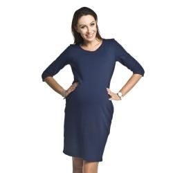 Těhotenské a kojící šaty Dinky tmavě modrá