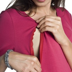 Těhotenské a kojící šaty Dinky amarantová