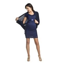 Těhotenský úpletový přehoz Etel černý