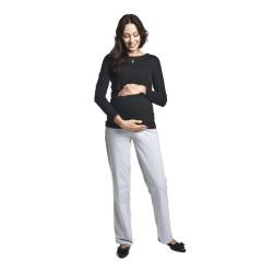 Těhotenské tepláky Fitness šedé