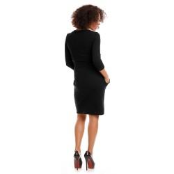 Těhotenské a kojící šaty Leila černá
