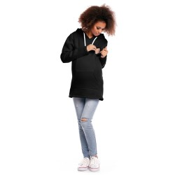 Těhotenská a kojící mikina Maxim černá