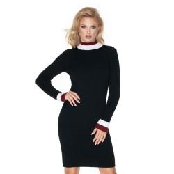 Těhotenské pletené šaty Mosso černé