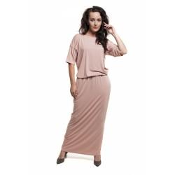 Těhotenské a kojící šaty Marta růžová