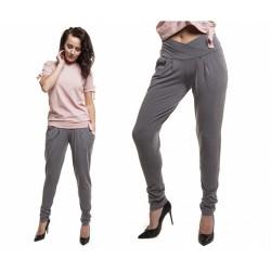 Těhotenské kalhoty Garet šedé