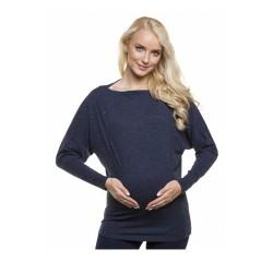 Těhotenská a kojící halenka Nieta tmavě modrá